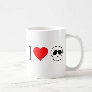 cráneos del corazón i taza de café