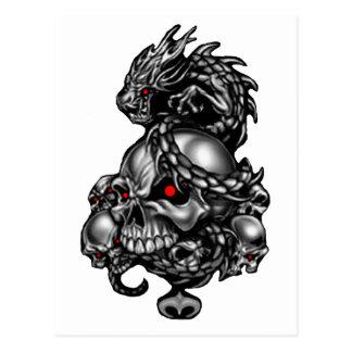 Cráneos del dragón postales
