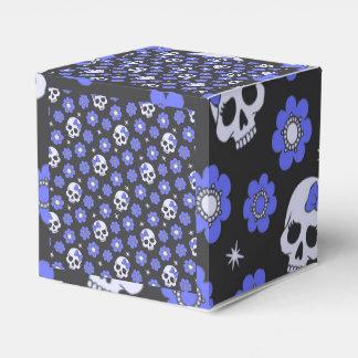 Cráneos del flower power del bígaro cajas para regalos de boda