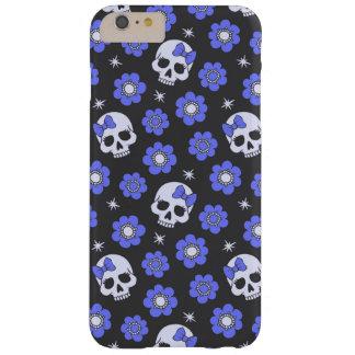 Cráneos del flower power del bígaro funda de iPhone 6 plus barely there