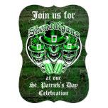Cráneos del Leprechaun del día de St Patrick: Invitación 12,7 X 17,8 Cm