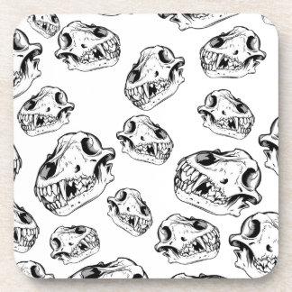 Cráneos del lobo posavasos de bebida