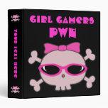 Cráneos del pwn de los videojugadores del chica co