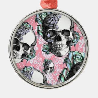 Cráneos del Rockabilly en primavera Adorno Para Reyes