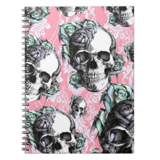 Cráneos del Rockabilly en primavera Libro De Apuntes