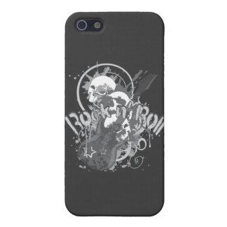 Cráneos del rollo del n de la roca iPhone 5 carcasas