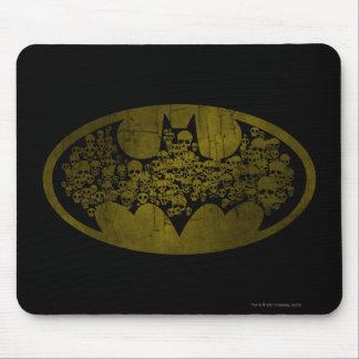 Cráneos del símbolo el | de Batman en logotipo del Tapete De Raton