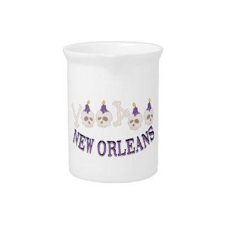 Cráneos del vudú de New Orleans Jarrones