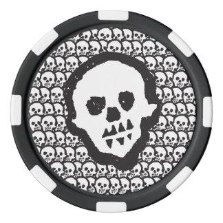 Cráneos del vudú de Youdo Juego De Fichas De Póquer
