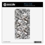 cráneos del vuelo del vanquisher de la cubierta de iPhone 4 skins