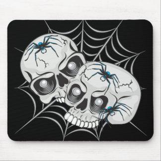 Cráneos del Web de araña Tapetes De Raton