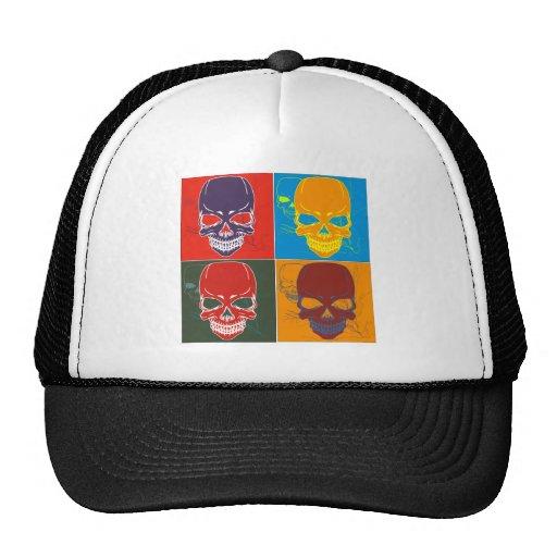 Cráneos en color gorras de camionero