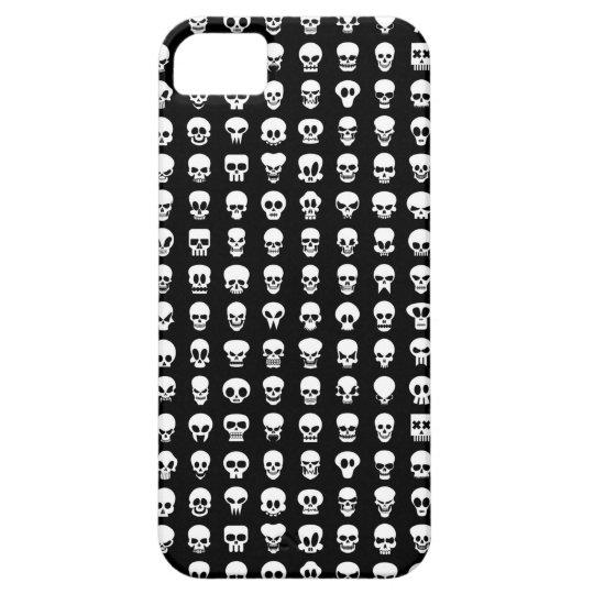 Cráneos en fondo negro funda para iPhone SE/5/5s