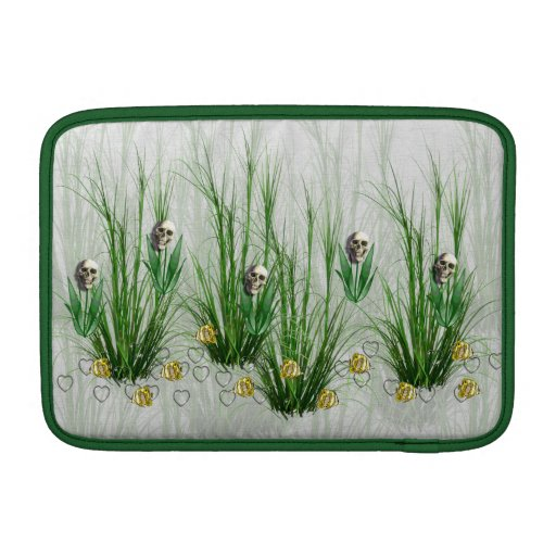 Cráneos en las malas hierbas fundas para macbook air