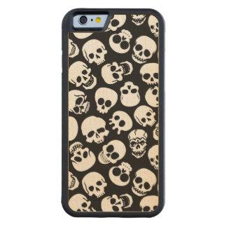 Cráneos en modelo negro del fondo funda de iPhone 6 bumper arce