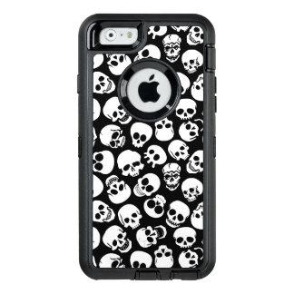 Cráneos en modelo negro del fondo funda otterbox para iPhone 6/6s