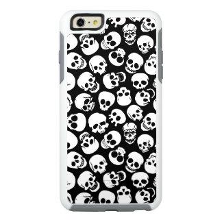 Cráneos en modelo negro del fondo funda otterbox para iPhone 6/6s plus