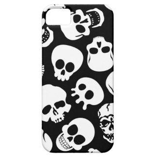 Cráneos en modelo negro del fondo iPhone 5 carcasas