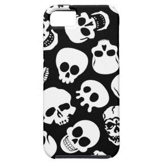 Cráneos en modelo negro del fondo iPhone 5 funda