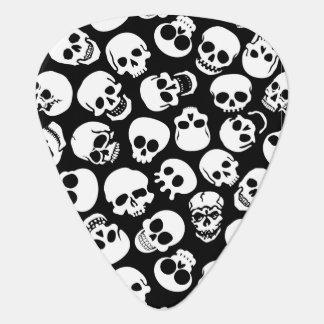 Cráneos en modelo negro del fondo plectro