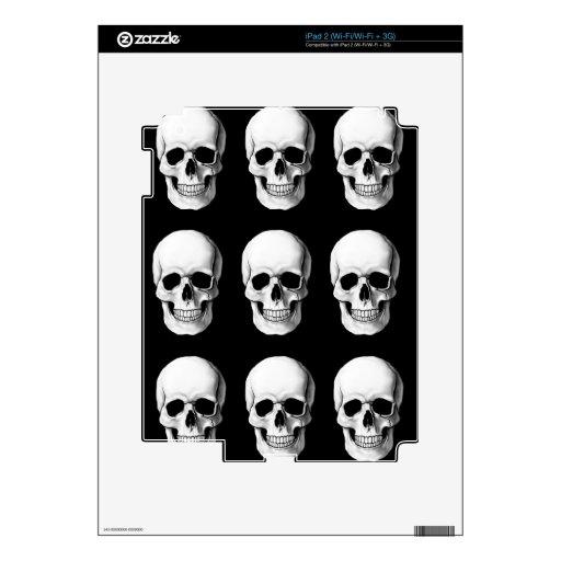 Cráneos en negro calcomanía para iPad 2