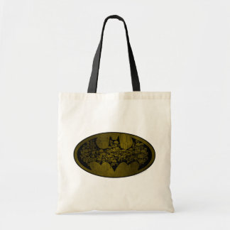 Cráneos en símbolo del palo bolsa tela barata