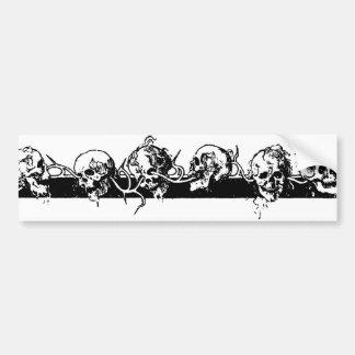 Cráneos en una vid. Circa México 1901 Pegatina De Parachoque