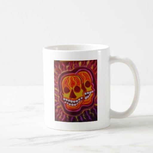 Cráneos estupendos de Halloween Taza Clásica
