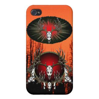 Cráneos europeos de los ciervos del trofeo iPhone 4 funda