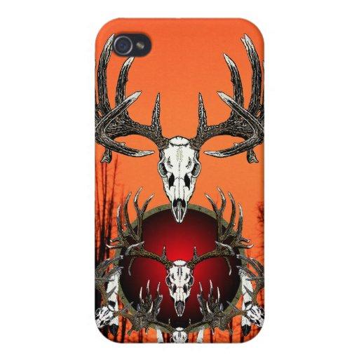 Cráneos europeos de los ciervos iPhone 4 carcasa