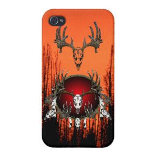 Cráneos europeos de los ciervos iPhone 4 funda