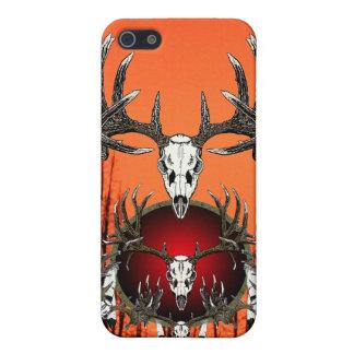 Cráneos europeos de los ciervos iPhone 5 carcasa