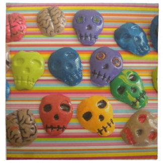 cráneos goth dia de los muertos de las servilletas