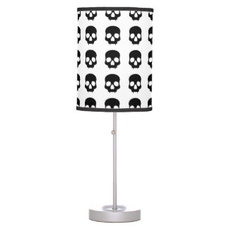 Cráneos góticos negros lindos lámpara de escritorio