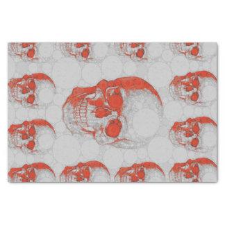 Cráneos grises rojos papel de seda pequeño