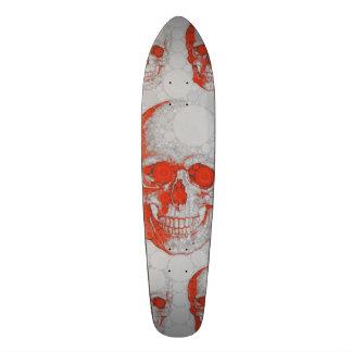 Cráneos grises rojos tablas de patinar
