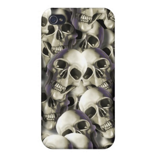 cráneos iPhone 4 cárcasa