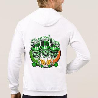 Cráneos irlandeses de risa del Leprechaun: Sudadera Pullover