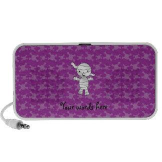 Cráneos lindos de la púrpura de la momia iPhone altavoz