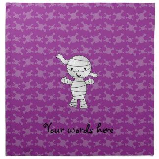 Cráneos lindos de la púrpura de la momia servilleta de papel