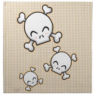 Cráneos lindos servilletas