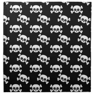 Cráneos lindos servilleta imprimida