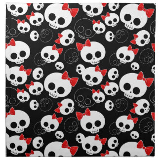 Cráneos lindos y asustadizos servilletas de papel