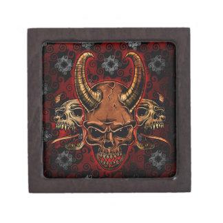 Cráneos malvados caja de regalo de calidad
