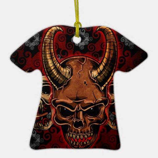 Cráneos malvados ornamento para reyes magos