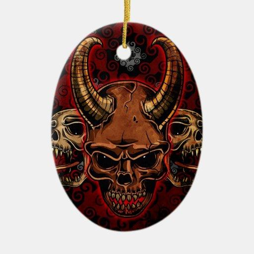 Cráneos malvados ornamento de reyes magos