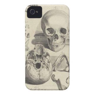 Cráneos médicos del vintage Case-Mate iPhone 4 fundas