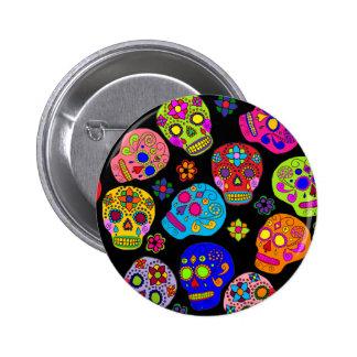 Cráneos mexicanos del azúcar del arte popular pins