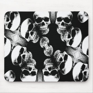 Cráneos negro y blanco tapetes de ratón