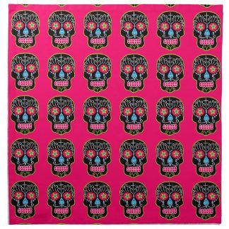 Cráneos negros adaptables del azúcar servilletas imprimidas